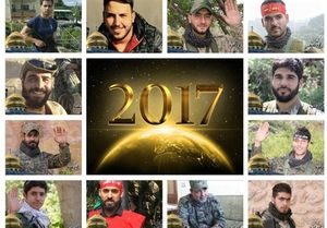 جزئیاتی از ۱۷۲ شهید مقاومت لبنان در سال ۲۰۱۷