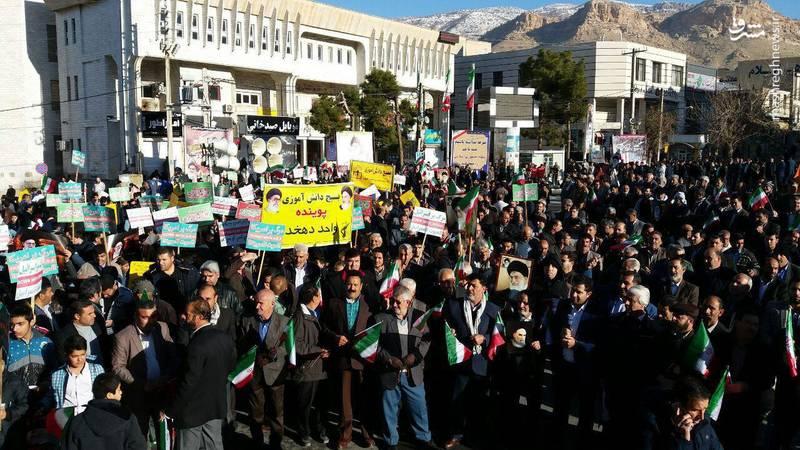 راهپیمایی مردم ایلام علیه آشوبگران