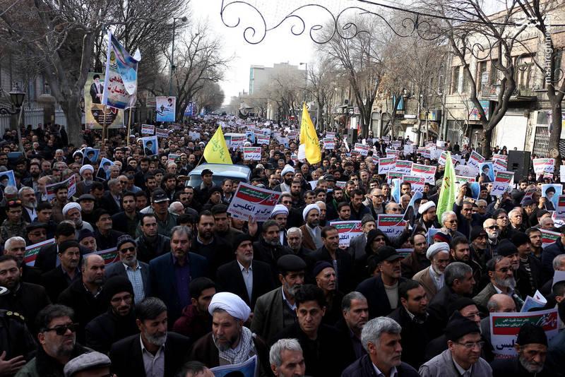 راهپیمایی مردم لرستان علیه آشوبگران