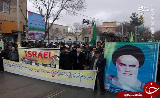 راهپیمایی مردم خراسان شمالی علیه آشوبگران