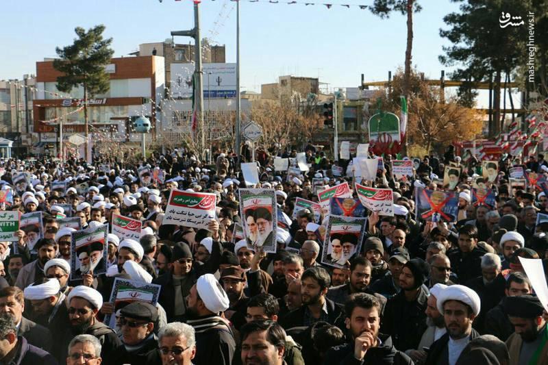 راهپیمایی مردم قم علیه آشوبگران