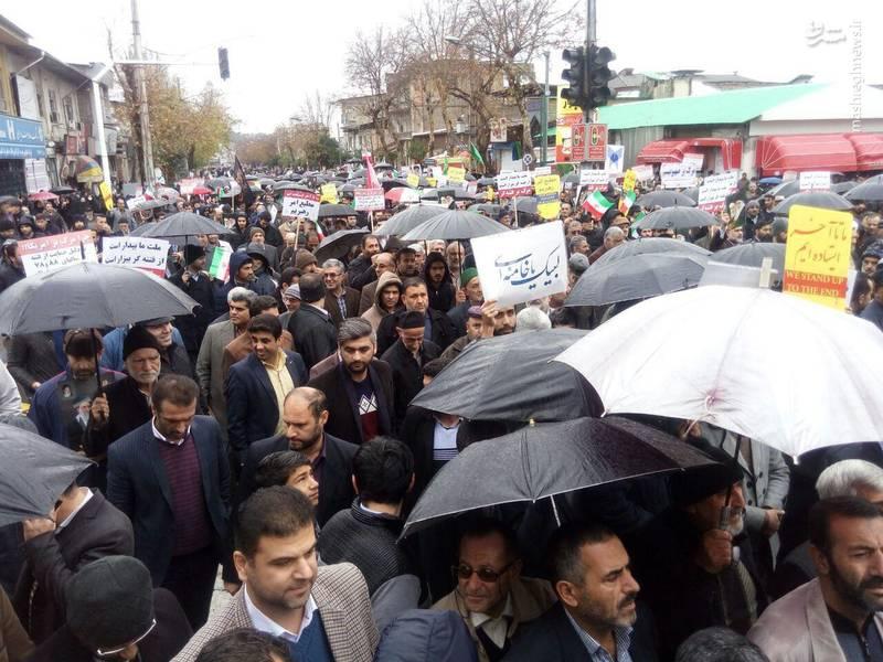 راهپیمایی مردم گرگان علیه آشوبگران
