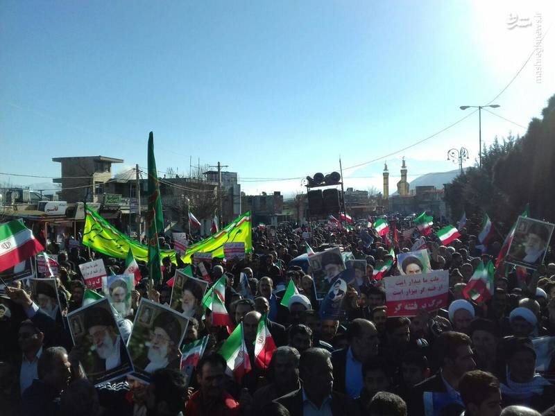 راهپیمایی مردم دورود علیه آشوبگران