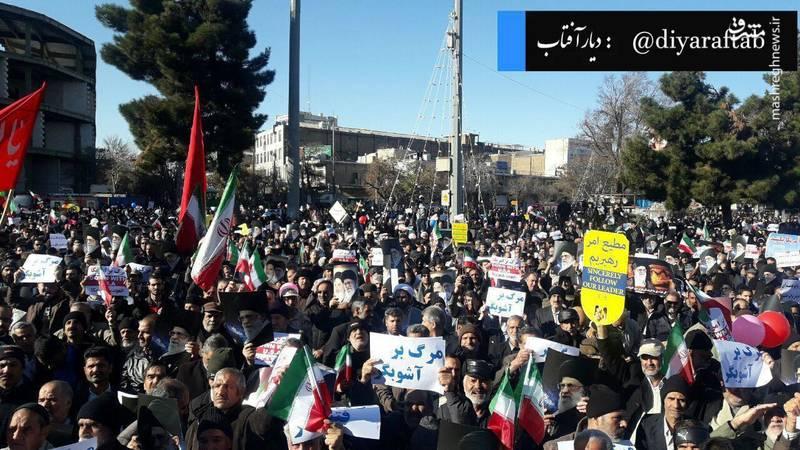 راهپیمایی مردم اراک علیه آشوبگران