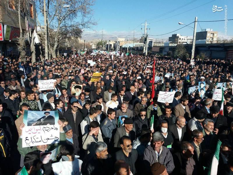 راهپیمایی مردم نهاوند علیه آشوبگران