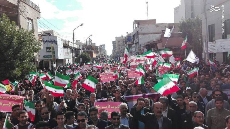 راهپیمایی مردم آبادان علیه آشوبگران