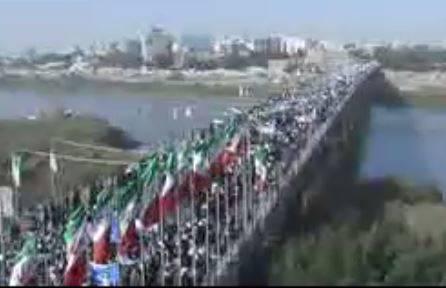 فیلم/ راهپیمایی مردم اهواز