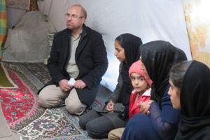 عکس/ حضور مجدد قالیباف در مناطق زلزلهزده