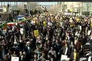 تظاهرات مردم یاسوج علیه اغتشاشگران