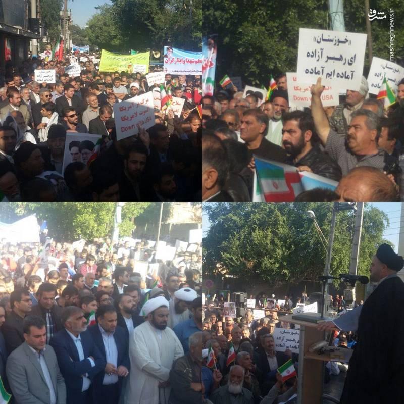 راهپیمایی مردم اندیمشک علیه آشوب گران