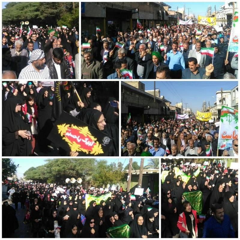 راهپیمایی مردم رامهرمز علیه  آشوبگران