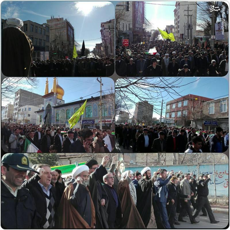 راهپیمایی مردم سرعین علیه آشوب گران