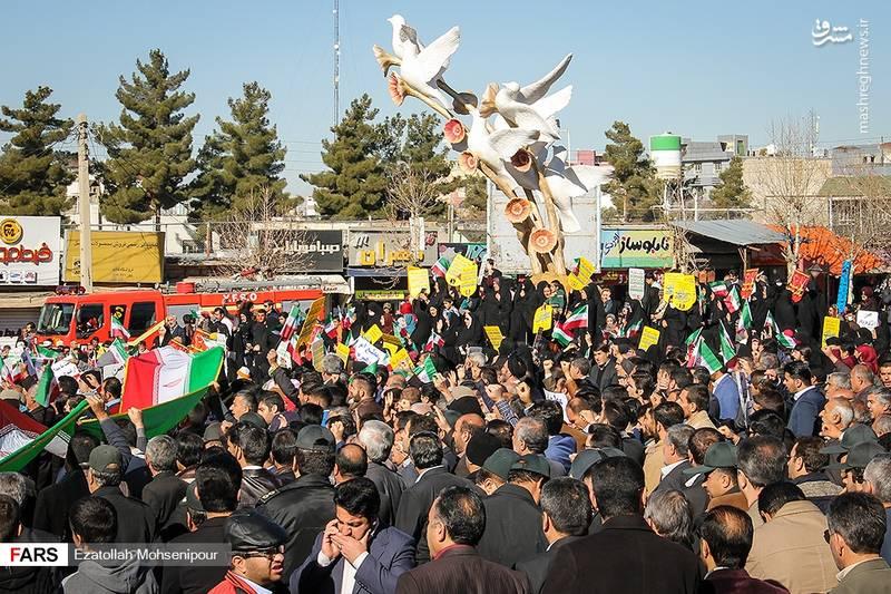 راهپیمایی مردم یاسوج علیه آشوب گران
