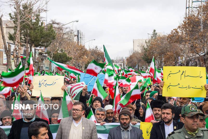 راهپیمایی مردم قوچان علیه آشوب گران