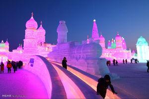 عکس/ جشنواره بناهای یخی هاربین