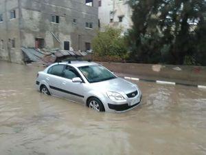عکس/ بارش شدید باران در مناطق مختلف فلسطین