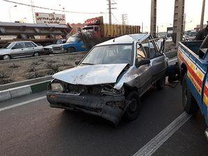تصادف زنجیرهای ۷ خودرو در بزرگراه فتح + تصاویر