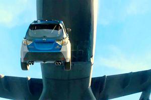 فیلم/ پرواز خطرناک یک ماشین