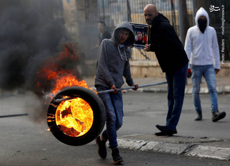 تداوم تظاهرات فلسطینیان در بیتلحم