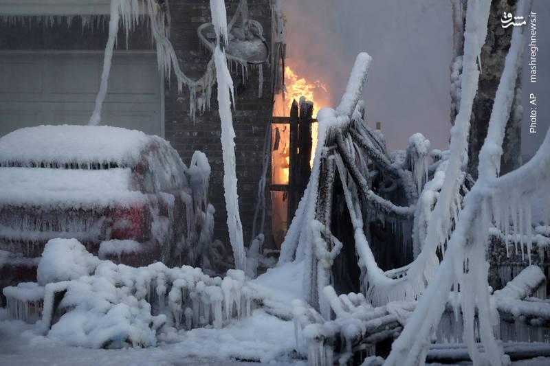سرمای شدید در نیوجرسی آمریکا