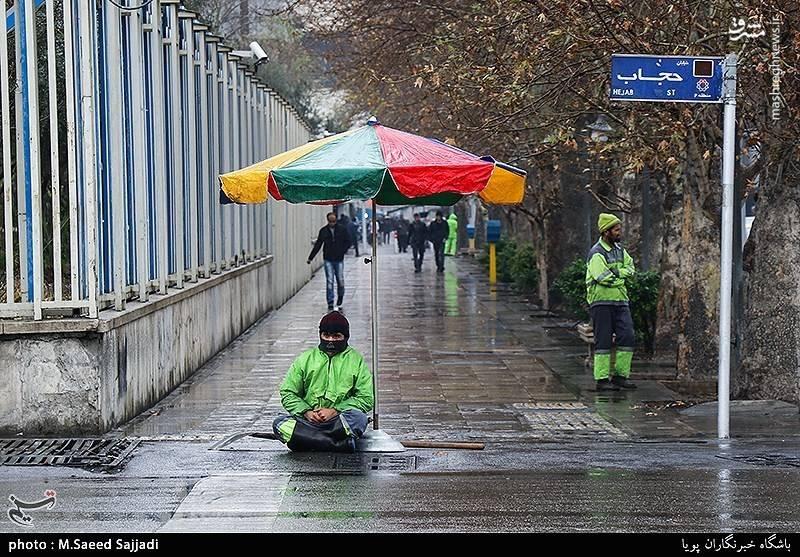 بارش باران در تهران