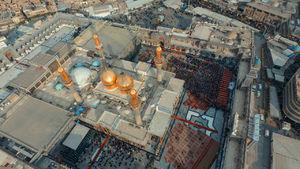 تصویر هوایی زیبا از حرم شریفین کاظمین