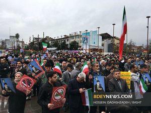 عکس/ قیام مردم گیلان علیه فتنهگران