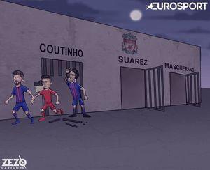 کاریکاتور/ آخرین فراری لیورپول به سمت بارسلونا