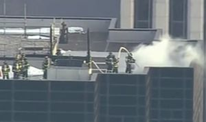 عکس/ آتش سوزی در برج ترامپ