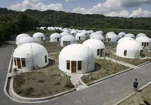 معجزه خانههای گنبدی ضدزلزله در ژاپن +عکس