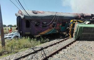 عکس/ حادثه برخورد دو قطار در آفریقا