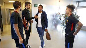 عکس/ اولین ملاقات کوتینیو با ستاره های بارسا
