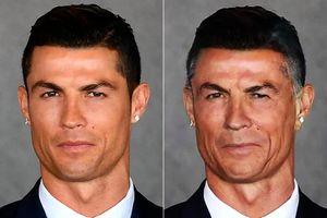 چهره ستارگان فوتبال
