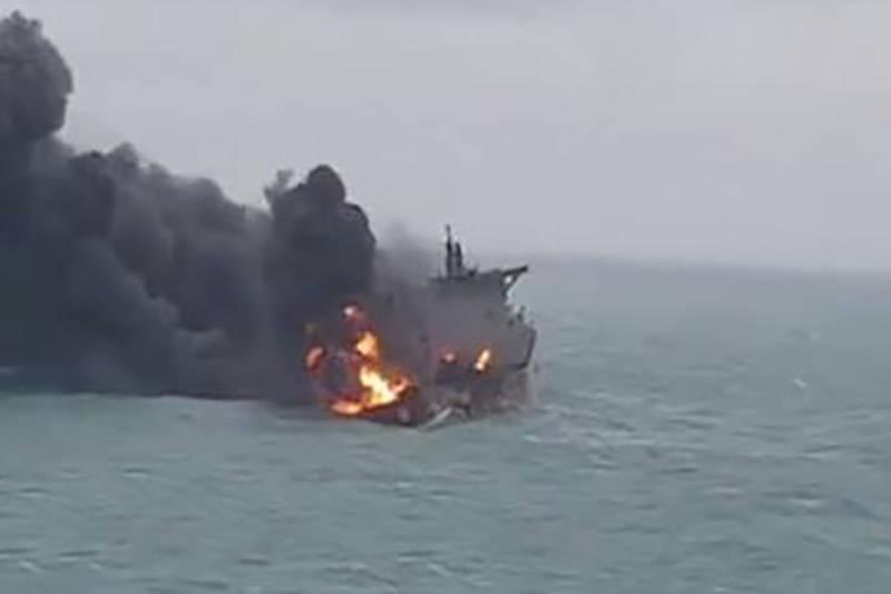 فیلم جدید از سوختن نفتکش ایرانی در چین
