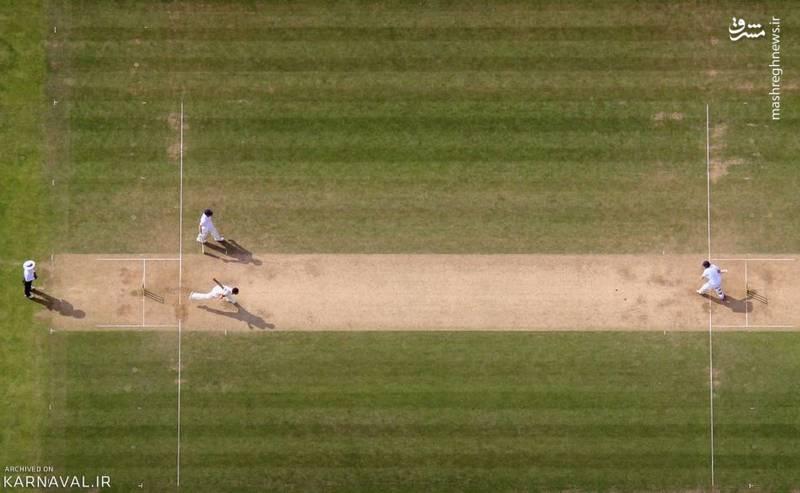بازی کریکت   ولز/این تصویر روز سوم مسابقه اَشِز تست ۲۰۱۵ (۲۰۱۵ Ashes Test) در شهر کاردیف (Cardiff) را نشان می دهد. طولانی ترین حالت بازی کریکت (Cricket)، تست نام دارد.
