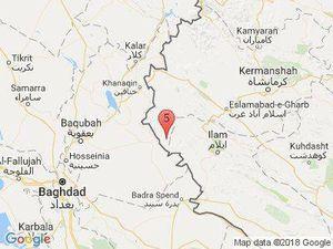 محل دقیق زلزله ۵.۶ ریشتری در کرمانشاه