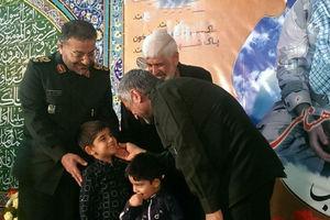 دلجویی سردار جعفری از فرزندان شهید شاهسنایی