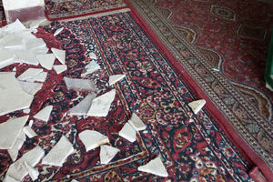 خسارت زلزله امروز در سومار