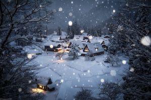 طبیعت زیبای ژاپن در زمستان