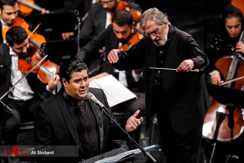 اجرای ارکستر ملی در دومین شب جشنواره موسیقی فجر