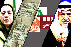 منافقین در نقش «مزدور اجارهای» عربستان/ آتشزدن پرچم برای گرفتن «دستخوش» از آلسعود! +فیلم و تصاویر