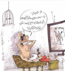 کاریکاتور/ ژوزه درحال پولکندن از پرسپولیس