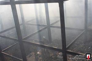 آتش سوزی ساختمان نیمه ساخته در تهران