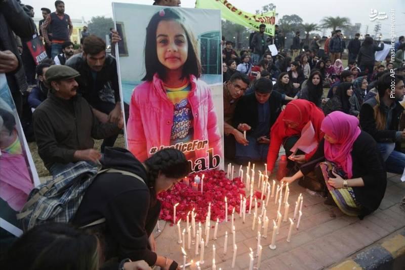 خشم و تأثر افکار عمومی به ویژه در پاکستان بر اثر قتل یک دختر 7 ساله و تجاوز به وی در لاهور