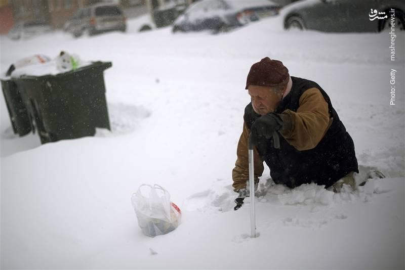 دشواری عبور و مرور در سرمای سخت نیوجرسی
