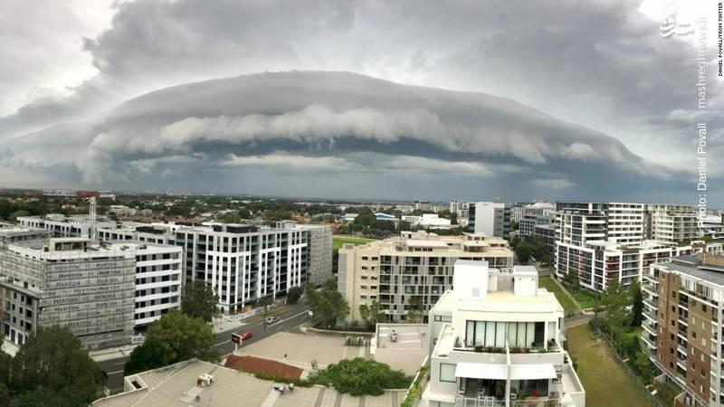 یک سامانه بارشی بر فراز سیدنی