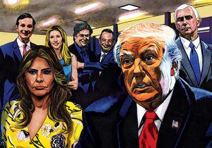 ترامپ و تیمش نتایج انتخابات (نمایه)