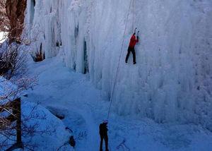 عکس/ این آبشار یخی در تهران است!