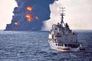 آخرین تصاویر نفتکش ایرانی قبل از غرق شدن