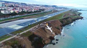 تصویر هوایی فرودگاه ترکیه پس از حادثه بوئینگ